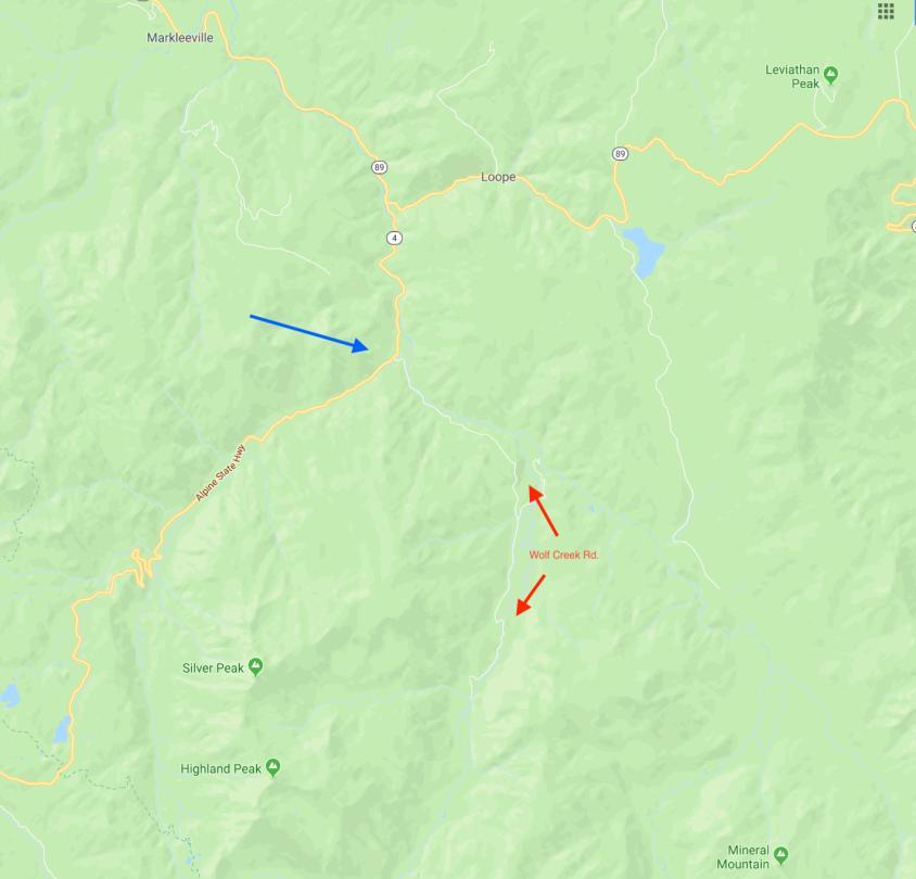 wolf creek road map